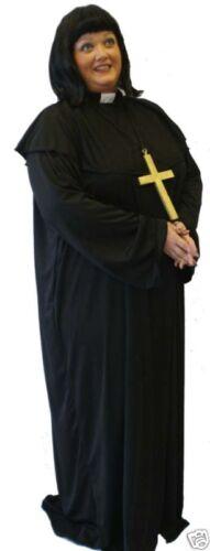 Vicaire de Dibley Style Fancy Dress Costume comprend Perruque Toutes les femmes Tailles