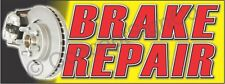 2x5 Brake Repair Banner Outdoor Indoor Sign Auto Service Shop Brakes Rotors
