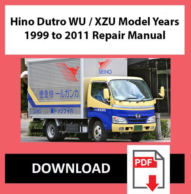 Workshop Service Repair Manual For Hino Dutro Wu  Xzu