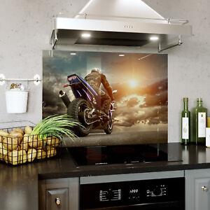 Ambitieux Verre Splashback Cuisine & Salle De Bain Panel Toute Taille Motocycliste Racing 0335-afficher Le Titre D'origine
