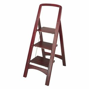 Pleasing Details About Folding Wood Step Ladder Chair Folds Flat Home Wooden Easy Storage Kitchen Beatyapartments Chair Design Images Beatyapartmentscom