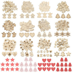 10-50pcs-Wooden-Christmas-Tree-Hanging-Ornaments-Pendant-Xmas-Crafts-Decoration