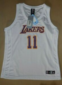 Details about Adidas Size XL Vintage NBA For Her Lakers Jersey #11 BROWN - New with Tags !!