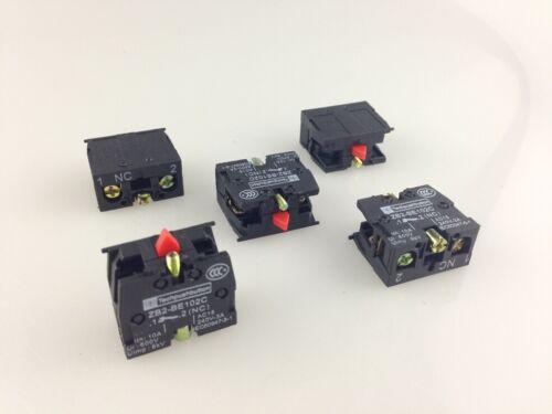 20 Piezas zb2-be102c NC bloque de contacto sustituir Tele 10a 600v