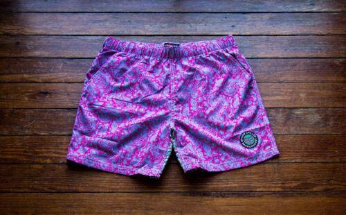 "Size: Small Quick Dry No Interior Liner 5.5"" Paisley Swim Shorts"