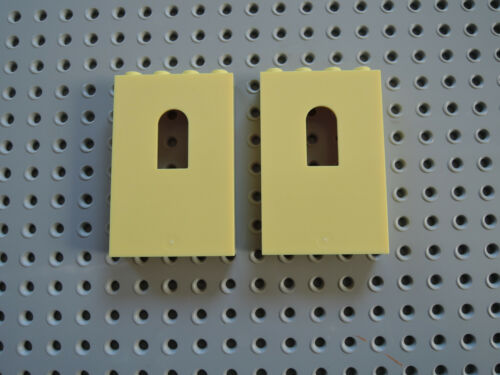 LEGO 2 x Wand mit Fenster  Ritterburg  60808 1x4x5  bright helles gelb 41063