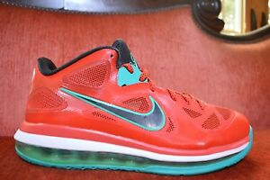 99079ac4ea5 CLEAN Nike Air Max LEBRON IX 9 Low LIVERPOOL RED BLACK WHITE 510811 ...