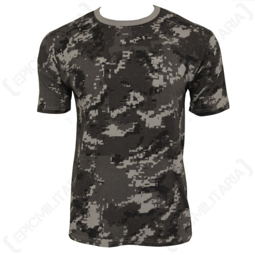 100/% Cotton Army Military Top All Sizes New Black Digital Camo T-Shirt