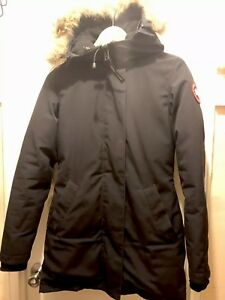 ddc85b9b2eb Details about Canada Goose Women Navy Victoria Parka - Size 2/XS