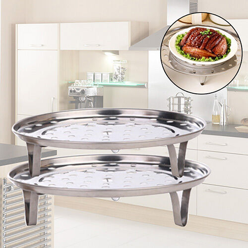 Stainless Steel Steamer Rack Stock Pot Steaming Tray Stand Cookware Eyeable Nice