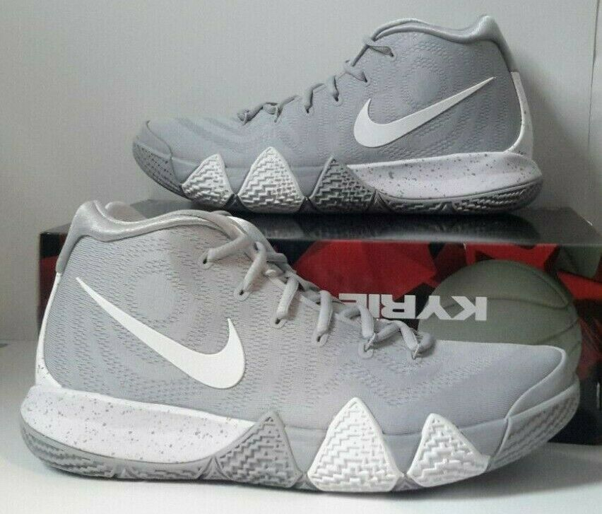 031b857b5d39 Nike Kyrie 4 TB Mens Av2296-002 Wolf Grey White Black Basketball ...