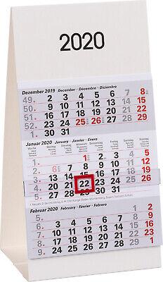 Kleiner Dreimonatskalender für den Schreibtisch 2020