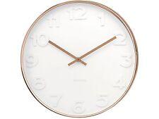 Reloj De Pared señor Blanca Con Estuche De Cobre - 51cm