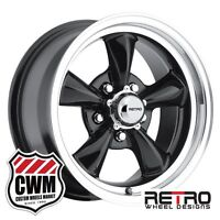 Chevy Monte Carlo Wheels 15 Inch 15x7 Black Rims For Chevy Monte Carlo 1982-1988