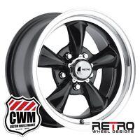 Chevy Monte Carlo Wheels 15 Inch 15x7 Black Rims For Chevy Monte Carlo 1970-1981