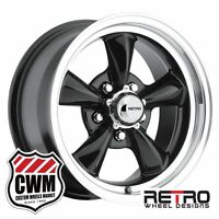 Chevy Nova Wheels 15 Inch 15x7 Gloss Black Rims For Chevy Nova 1968-1972