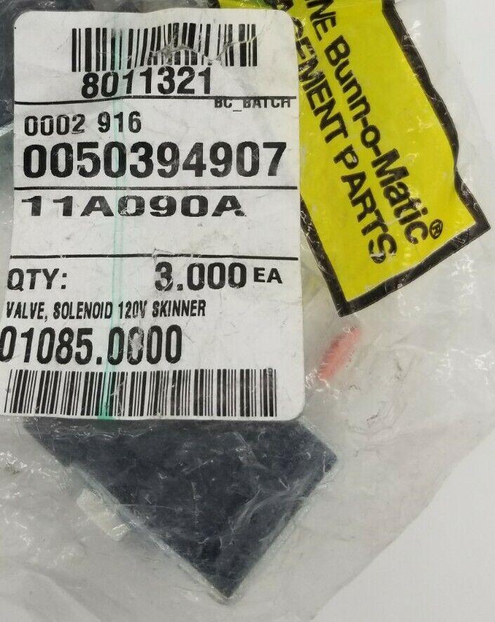Bunn 01085.0000 Solenoid 120 Volt Skinner Valve