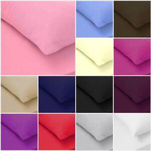 100-coton-egyptien-2-x-Housewife-Taie-d-039-oreiller-200-fils-au-pouce-paires