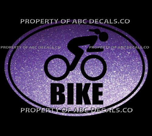 VRS TRI OVAL Triathlon WORD Bike Bicycle Tire Cycling Race Woman CAR METAL DECAL