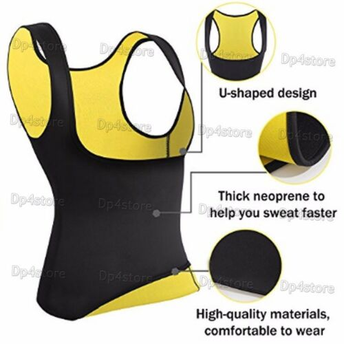 Waist Trainer Hot Thermo Vest Abs Slim Top Tank Compression Shaper Cami Faja US