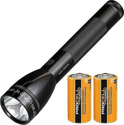 137 Lumens New MAGLITE ML100 LED Flashlight 307mtrs Boxed 2C Black Torch