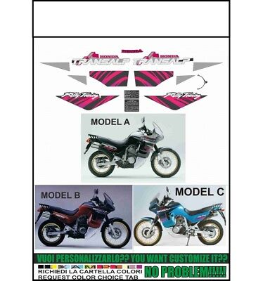 INDICARE IL MODELLO A o B o C Kit adesivi decal stikers honda xl 600 v transalp 1989-1990