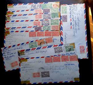 RARE-L-039-Arabie-Saoudite-1950-60-s-collection-de-10-couvre-034-Saudi-aramco-034-Poste-aux-Etats