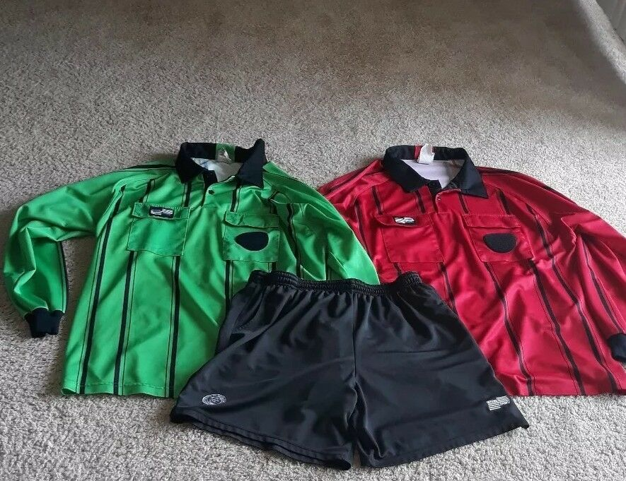 e777bb99a1b Official Sports Soccer referee long sleeve jersey short bundle Mens XL set  of 3
