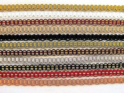 BY THE YARD ~ Lustrous Metallic Gold Jaquard Ribbon Trim ~ Choice of Colors