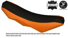 BLACK & ORANGE CUSTOM FITS KTM 690 SMC R ENDURO 10-16 DUAL LEATHER SEAT COVER