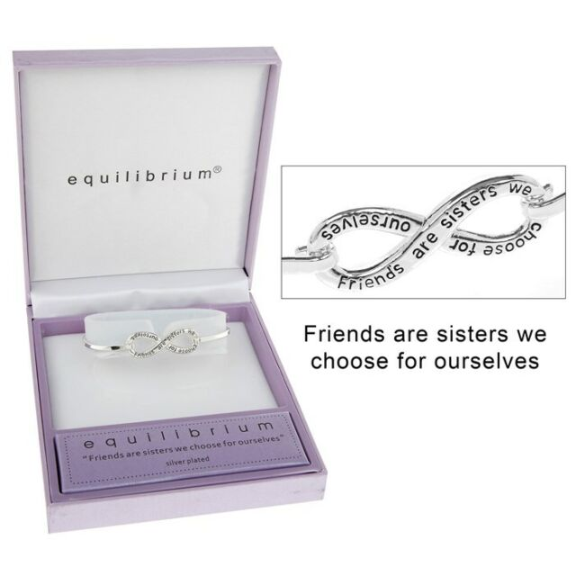 Bracelet Equilibrium Silver Plated Friends Infinity Friendship