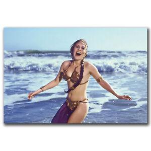 Carrie Fisher Princess of Star War Movie Art Silk Poster 12x18 24x36 inch