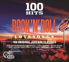 100 HITS ROCK N' ROLL-LOVE SONGS New Digipack Edition 5 CD NEU ADAM FAITH