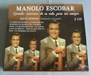 COFFRET 2 CD MANOLO ESCOBAR GRANDES CANCIONES DE SA VIDA PARA SUS AMIGOS