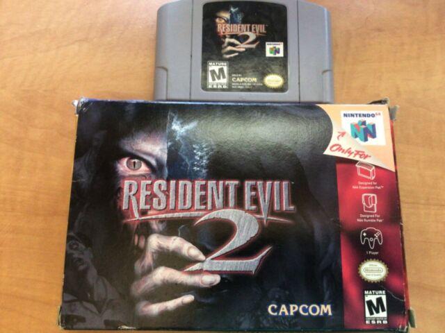 Resident Evil 2 Nintendo 64 video game + original box