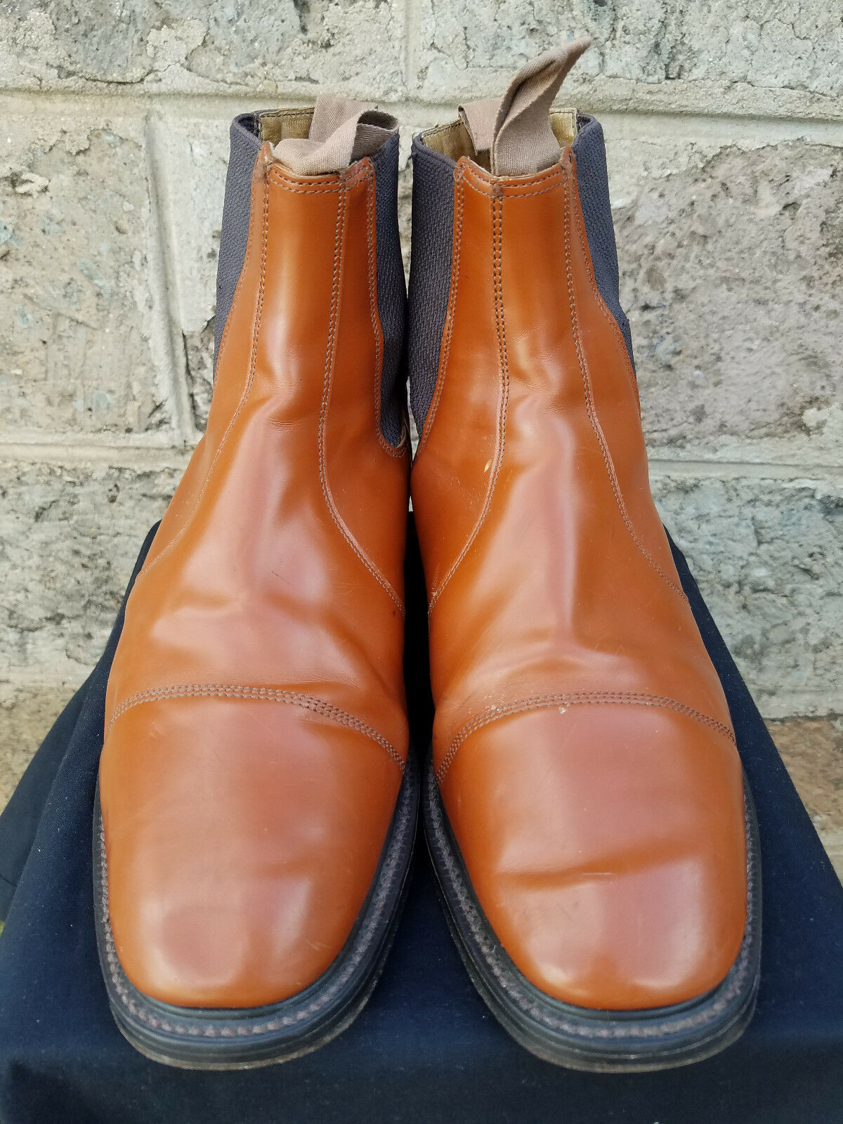 Men's British Tan NPS English Made All Leather Chelsea Boots Size 9