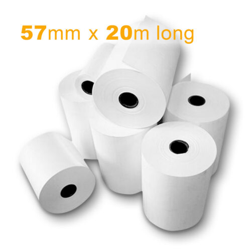 Printed THERMAL PAPER Till Cash Register Receipt Printer Rolls 57mm x 20m long