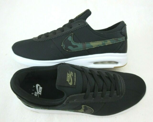 various colors factory price outlet online Nike Mens SB Air Max Bruin Vapor TXT Black Camo Skate Shoes Size 10 AA4257  005