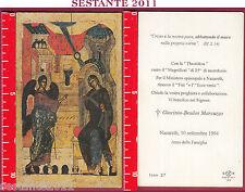 1242 SANTINO HOLY CARD ANNIVERSARIO SACERDOZIO NAZARETH 1994 ICON 27 BONELLA FB