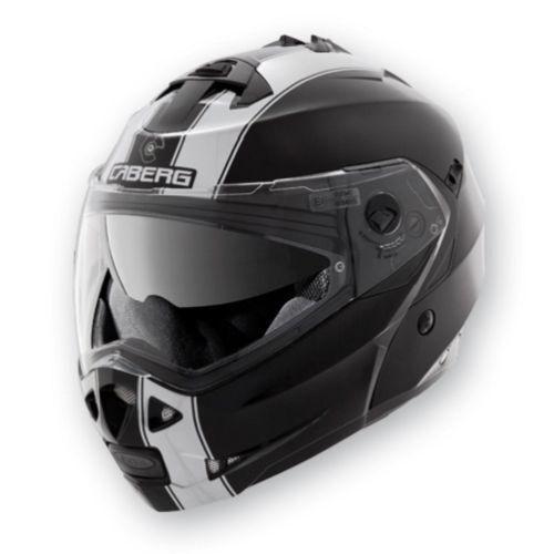 CABERG DUKE FLIP FRONT DUAL HOMOLOGATION MOTORBIKE HELMET BLACK WHITE S