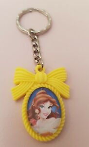 Belle-Beauty-and-the-Beast-Keyring-or-Bag-Charm-Gift-Princess-Yellow-Bow-Cute