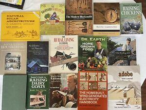 Lot of Homesteading Skills Books Self Reliance Off Grid Survival, Farming, Solar