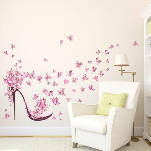 Pink Lovely Art Cartoon Kids Girl Room Decor Wall Sticker Removable Vinyl Decal