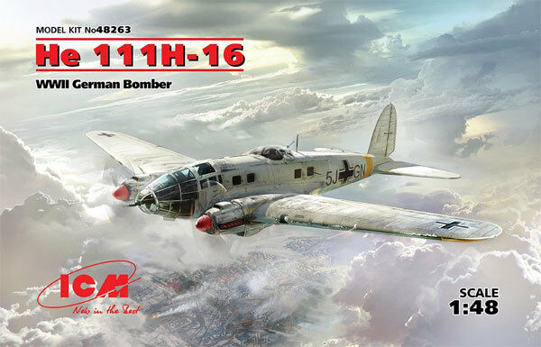 ICM Heinkel He11H-16 WWII GERMAN BOMBER 1 48 MODEL KIT FROM JAPAN