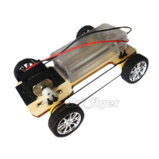 5package Manual Four Wheel Driver Wood Car Model Kit C DIY Children Hobby Robot