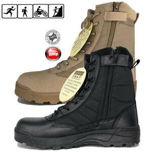 Hombres-Desierto-Militar-Tactico-Botas-de-trabajo-con-cremallera-Forced-Deployment-Botas-Swat
