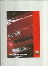 ALFA ROMEO 145,146,155,164 2.0/3.0, Spider & gtvprice elenco AUTO BROCHURE oct.1997