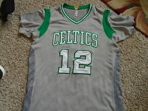 best website 87b50 15d32 Details about Terry Rozier 2016-17 Boston Celtics Adidas Game Worn Jersey  Gray Sleeves XL+2