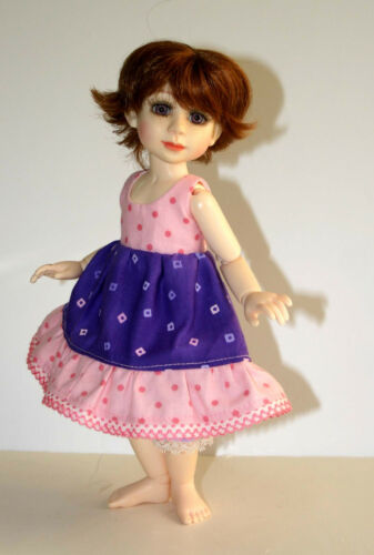 "Bonnet /& Bloomers Pattern10/"" BJD Berdine Creedy Something Sweet Dress"