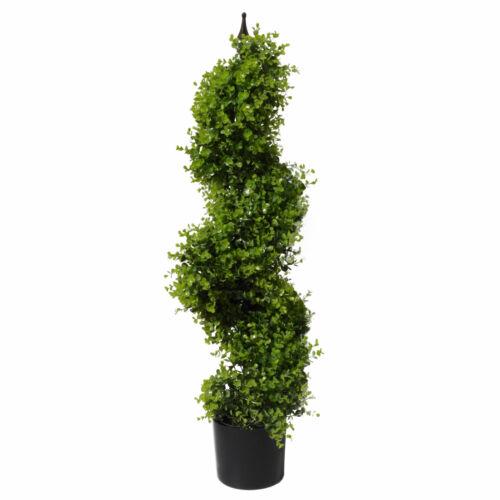 7494 120 Cm Buis topiaire spirale Arbre UV protégé Leaf
